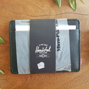 Hershel Leather Wallet Cash Card Bill Brand NWT